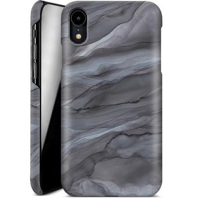 Apple iPhone XR Smartphone Huelle - Black Watercolour Marble von Becky Starsmore