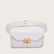 Croc Embossed Belt Bag