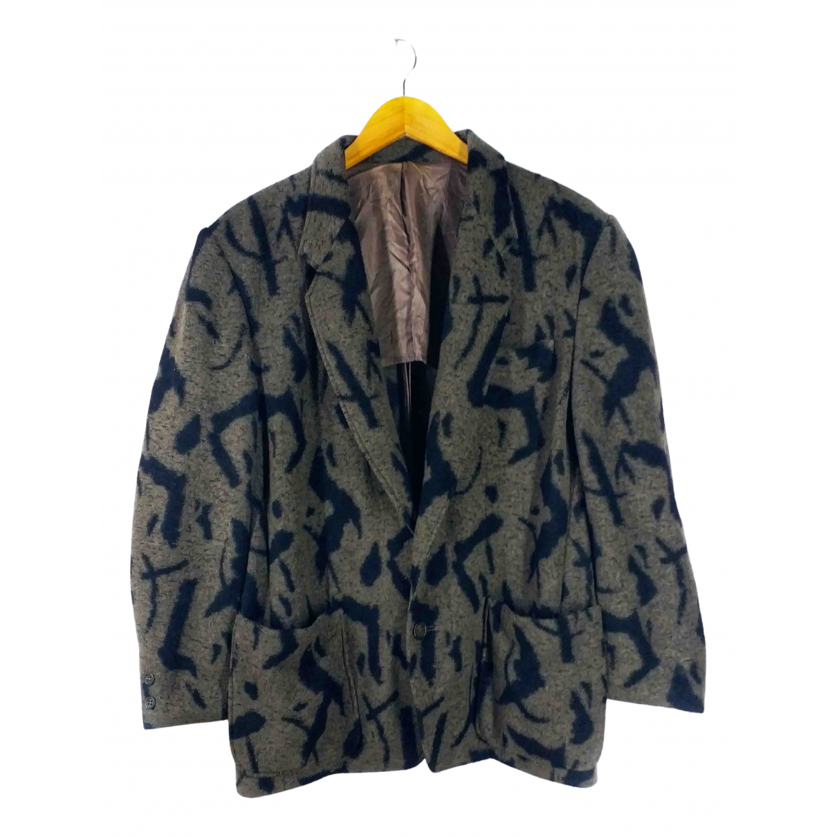 Issey Miyake - Manteau   pour homme en laine - marron