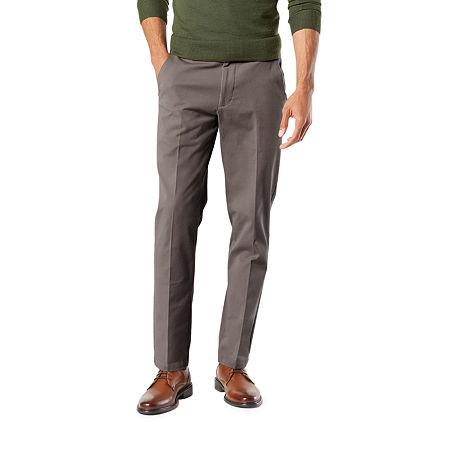 Dockers Men's Slim Fit Workday Khaki Smart 360 Flex Pants D1, 29 30, Black