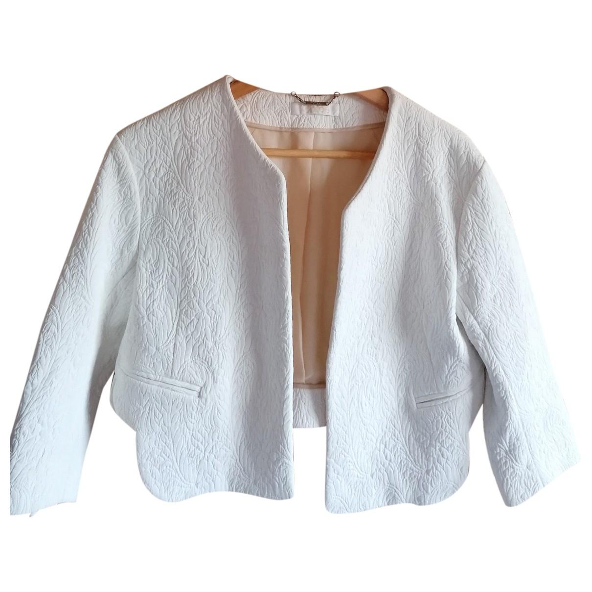 Chloe - Veste   pour femme en soie - blanc