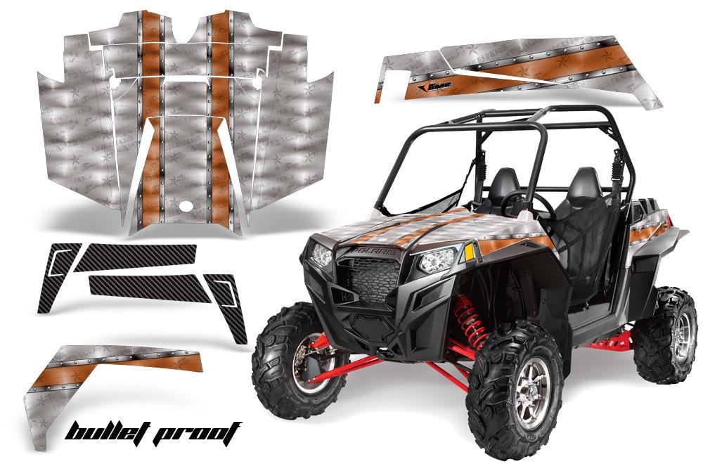 AMR Racing  Full Custom UTV Graphics Decal Kit Wrap Bullet Proof Polaris RZR XP 900 11-14