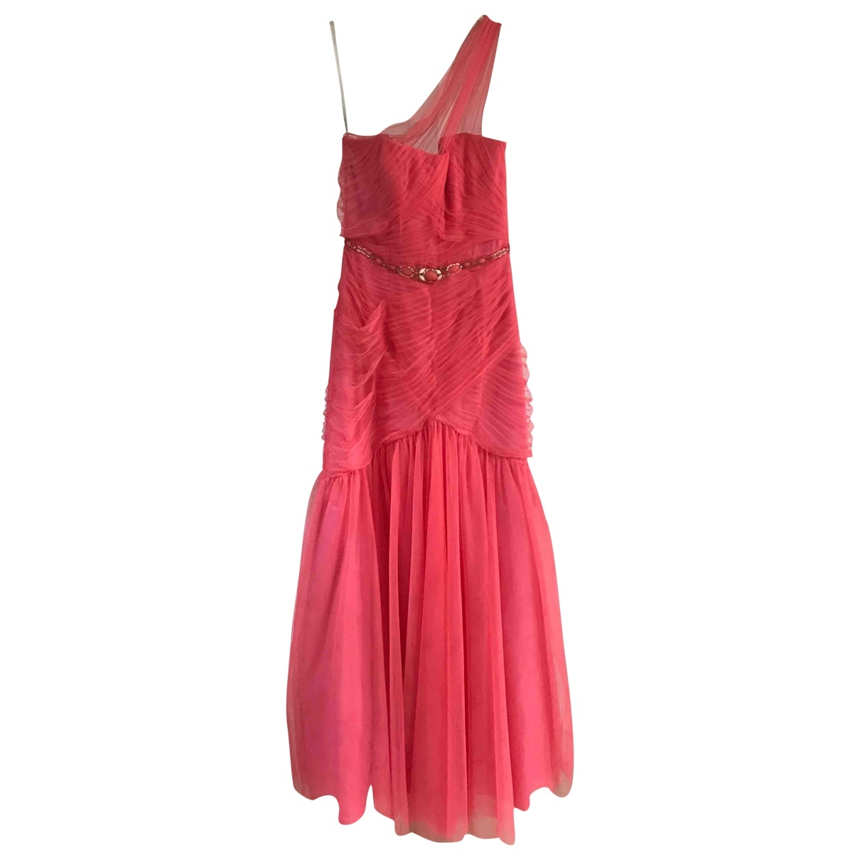 Monique Lhuillier \N Kleid in  Rosa Polyester