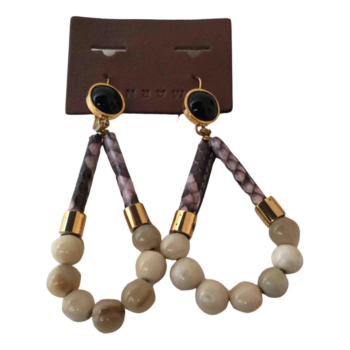 Marni - Boucles doreilles   pour femme en corne - multicolore