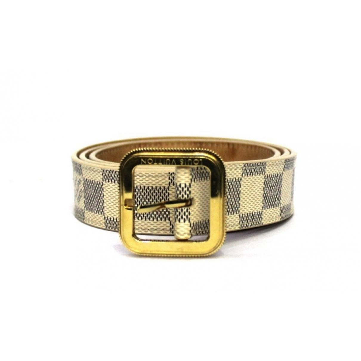 Louis Vuitton \N White Cloth belt for Women 90 cm