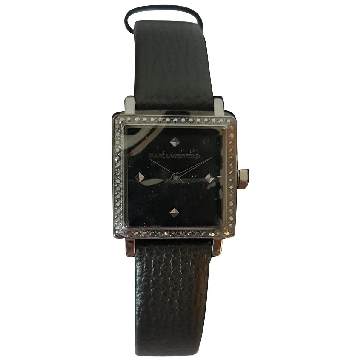 Karl Lagerfeld \N Black Steel watch for Women \N