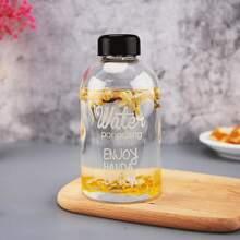Flasche aus Kunststoff mit Buchstaben Grafik & Tasche