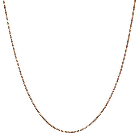 14K Rose Gold Solid Box Chain Necklace, One Size , No Color Family