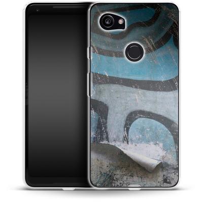 Google Pixel 2 XL Silikon Handyhuelle - Texture Pacificwall von Brent Williams