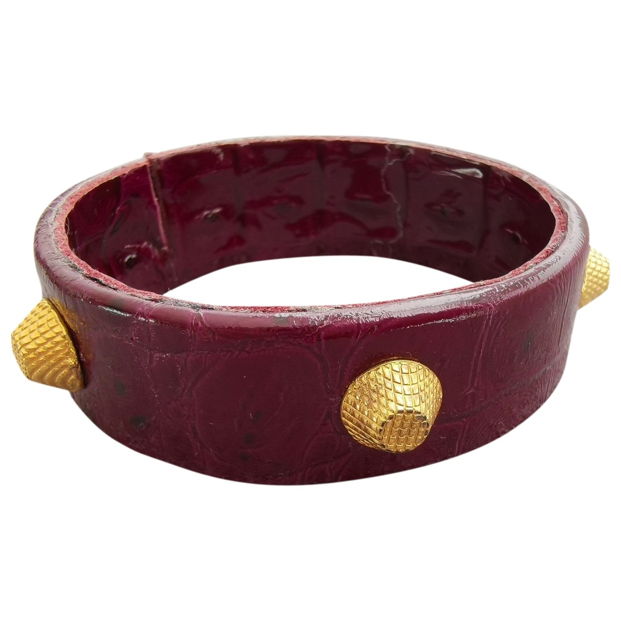 Non Signe / Unsigned \N Armband in  Lila Leder
