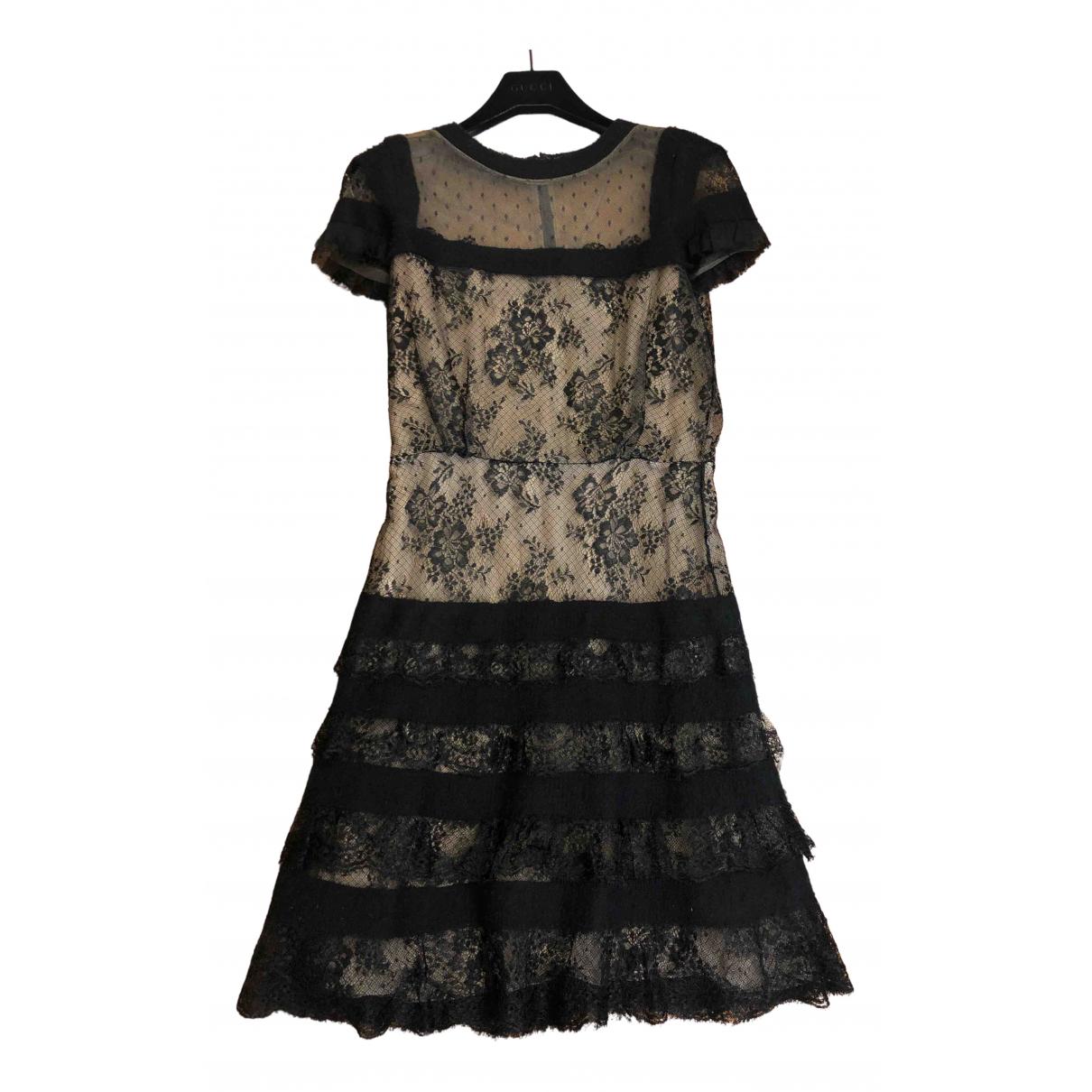 Valentino Garavani \N Kleid in  Schwarz Viskose