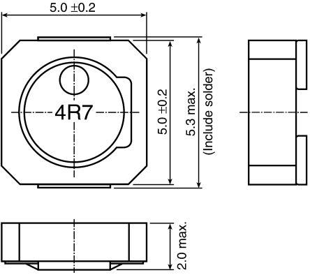 TDK , VLCF Shielded Wire-wound SMD Inductor 2.2 μH ±30% Wire-Wound 2.76A Idc (5)