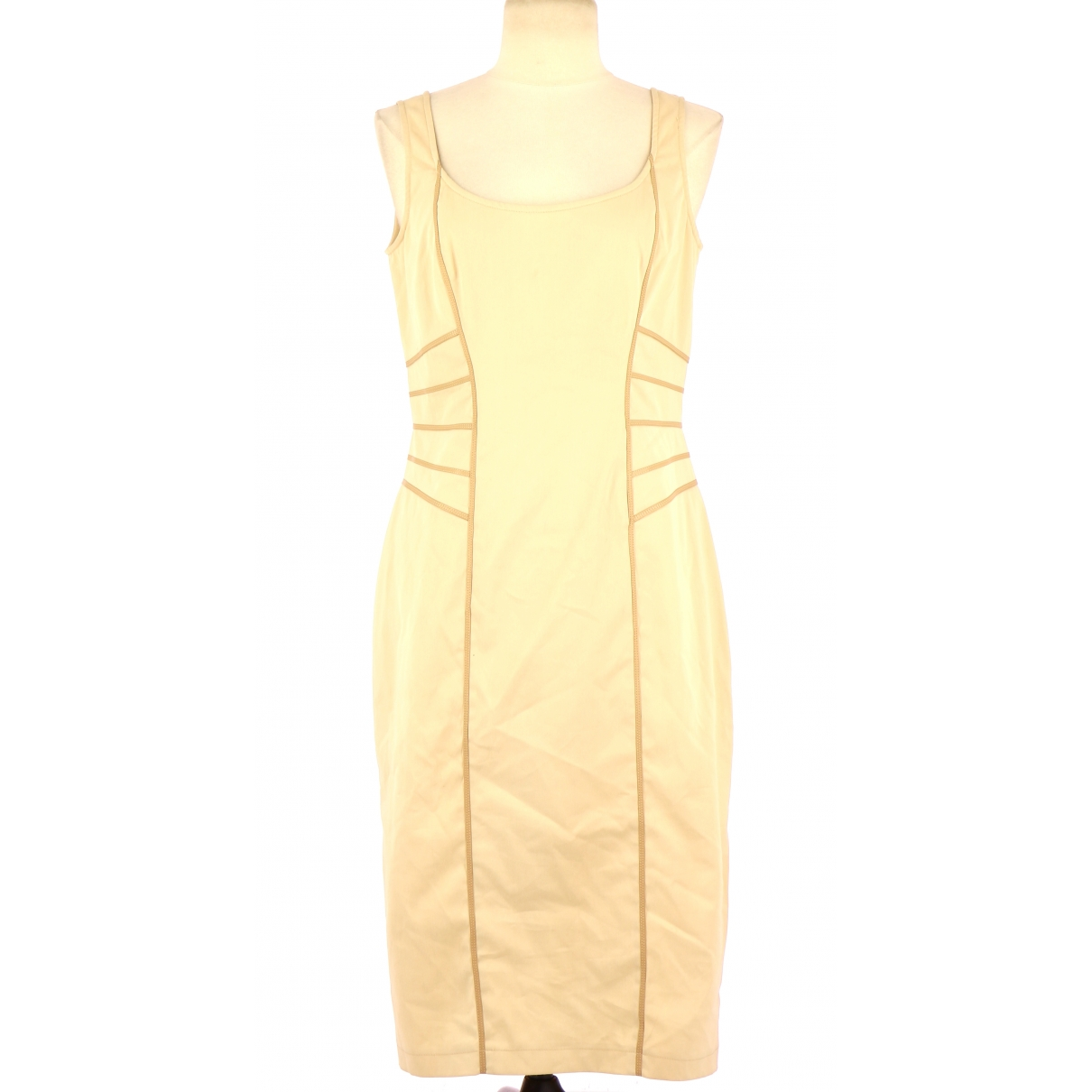 Non Signé / Unsigned \N Beige Cotton dress for Women 42 FR