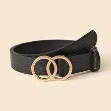 Cinturon con hebilla de doble aro O