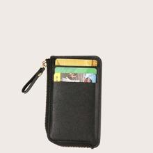 Maenner Geldborse mit Reissverschluss und Kartenhalter