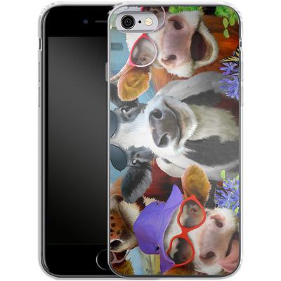 Apple iPhone 6 Silikon Handyhuelle - Udderly Cool Selfie von Howard Robinson