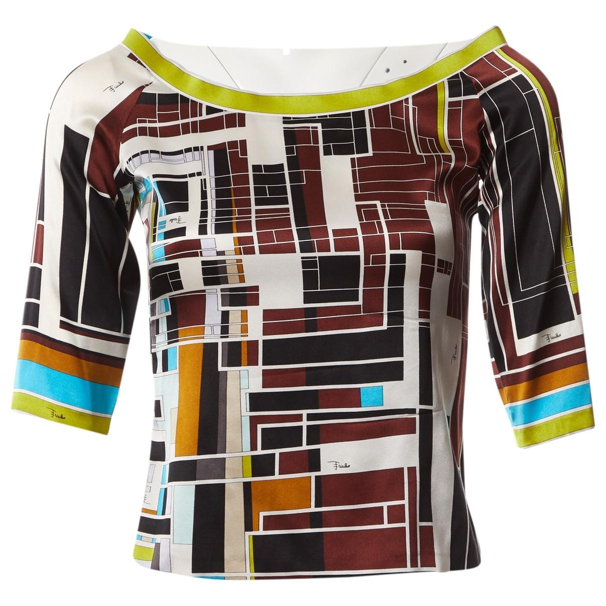 Emilio Pucci \N Multicolour Silk  top for Women 40 IT
