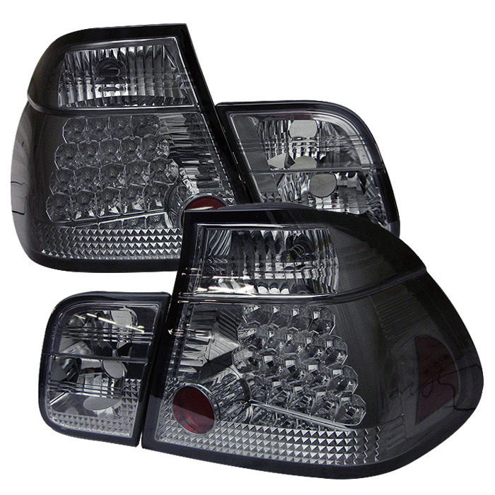 Spyder Auto ALT-YD-BE4699-4D-LED-SM Smoke LED Taillights BMW E46 323i 4Dr 98-01
