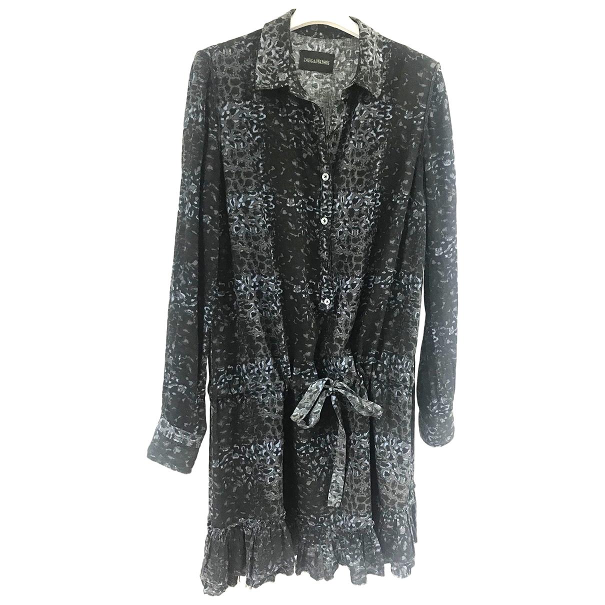 Zadig & Voltaire \N Anthracite Cotton dress for Women S International