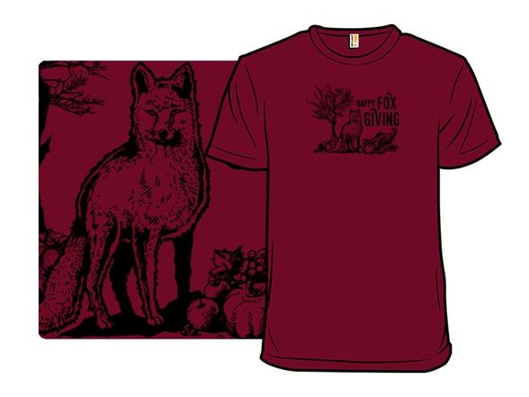 Happy Fox Giving T Shirt