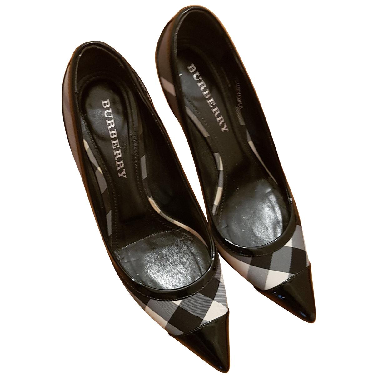 Burberry \N Black Cloth Heels for Women 39 EU