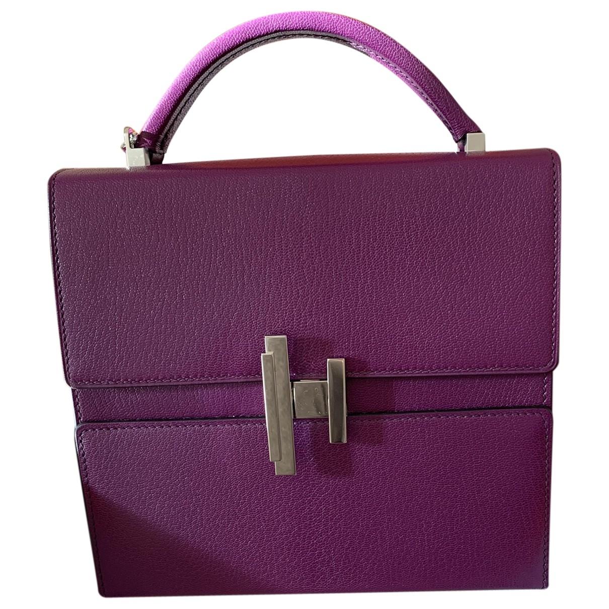 Hermes - Sac a main Cinhetic pour femme en cuir - violet