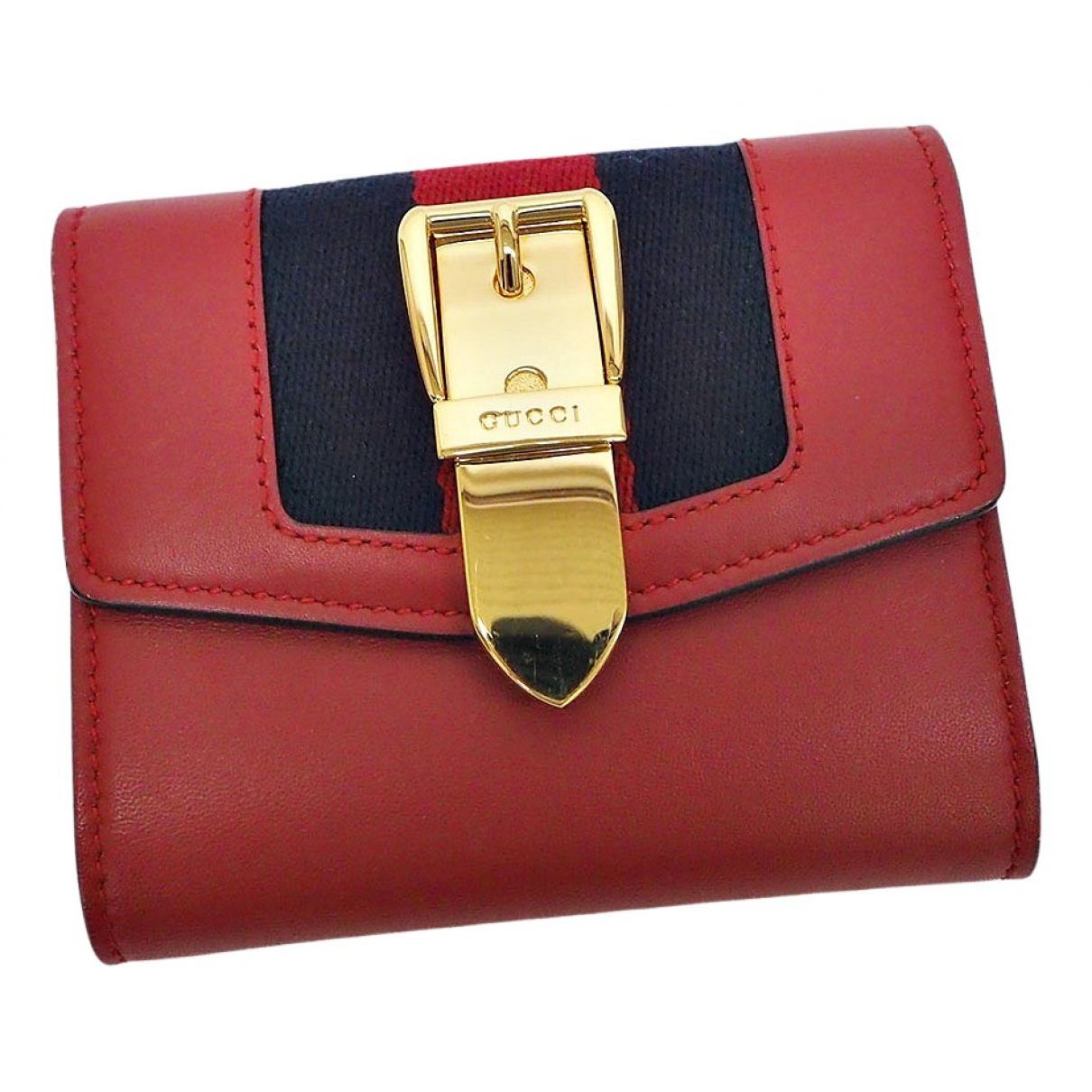Gucci Sylvie Red Leather wallet for Women \N
