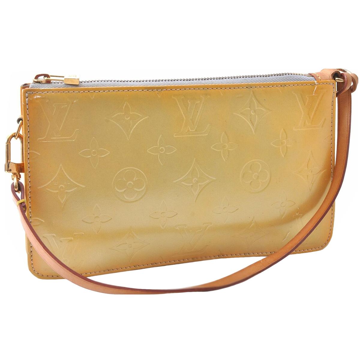 Louis Vuitton - Pochette   pour femme en cuir verni - jaune