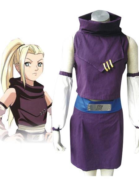 Milanoo Halloween Traje de color purpura de Ino Yamanaka para cosplay de Naruto