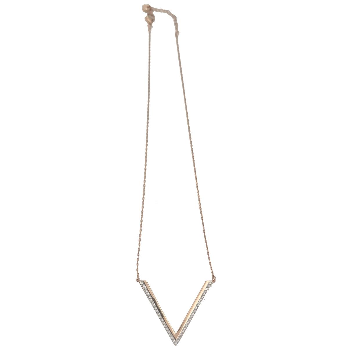 Swarovski - Collier   pour femme en acier - dore