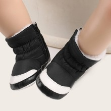 Baby Boy Star Pattern Fur Lined Boots