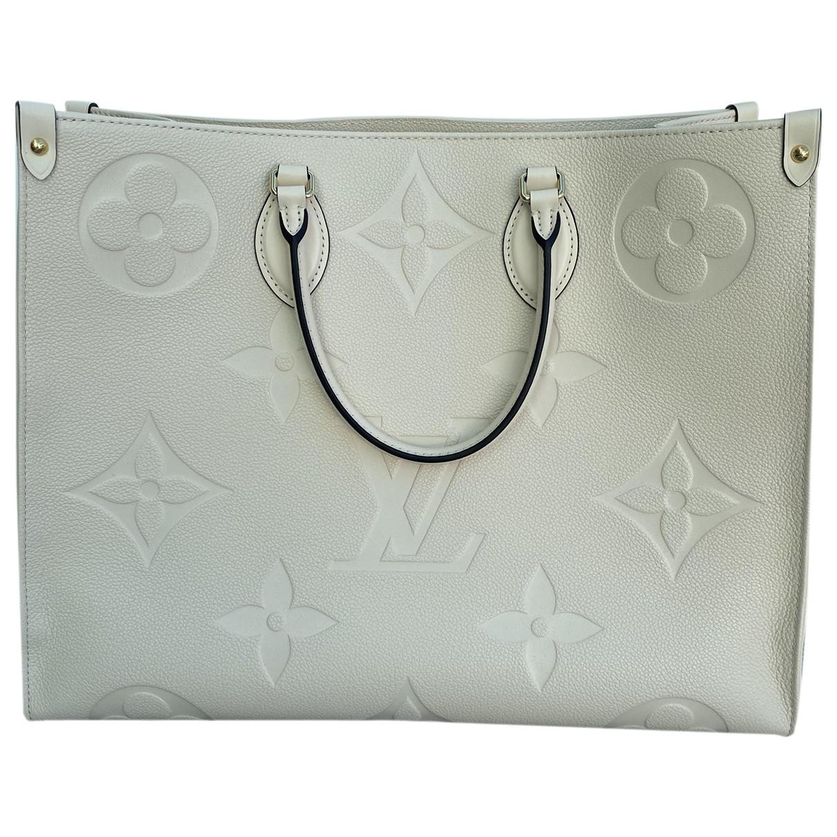 Louis Vuitton - Sac a main Onthego pour femme en cuir - blanc
