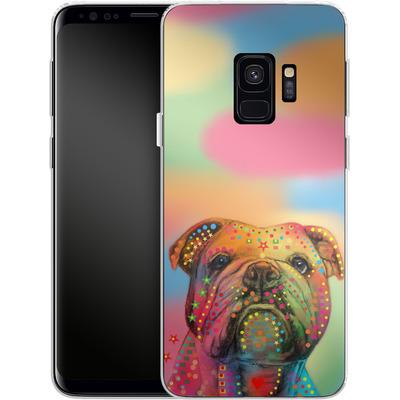 Samsung Galaxy S9 Silikon Handyhuelle - Bulldog von Mark Ashkenazi