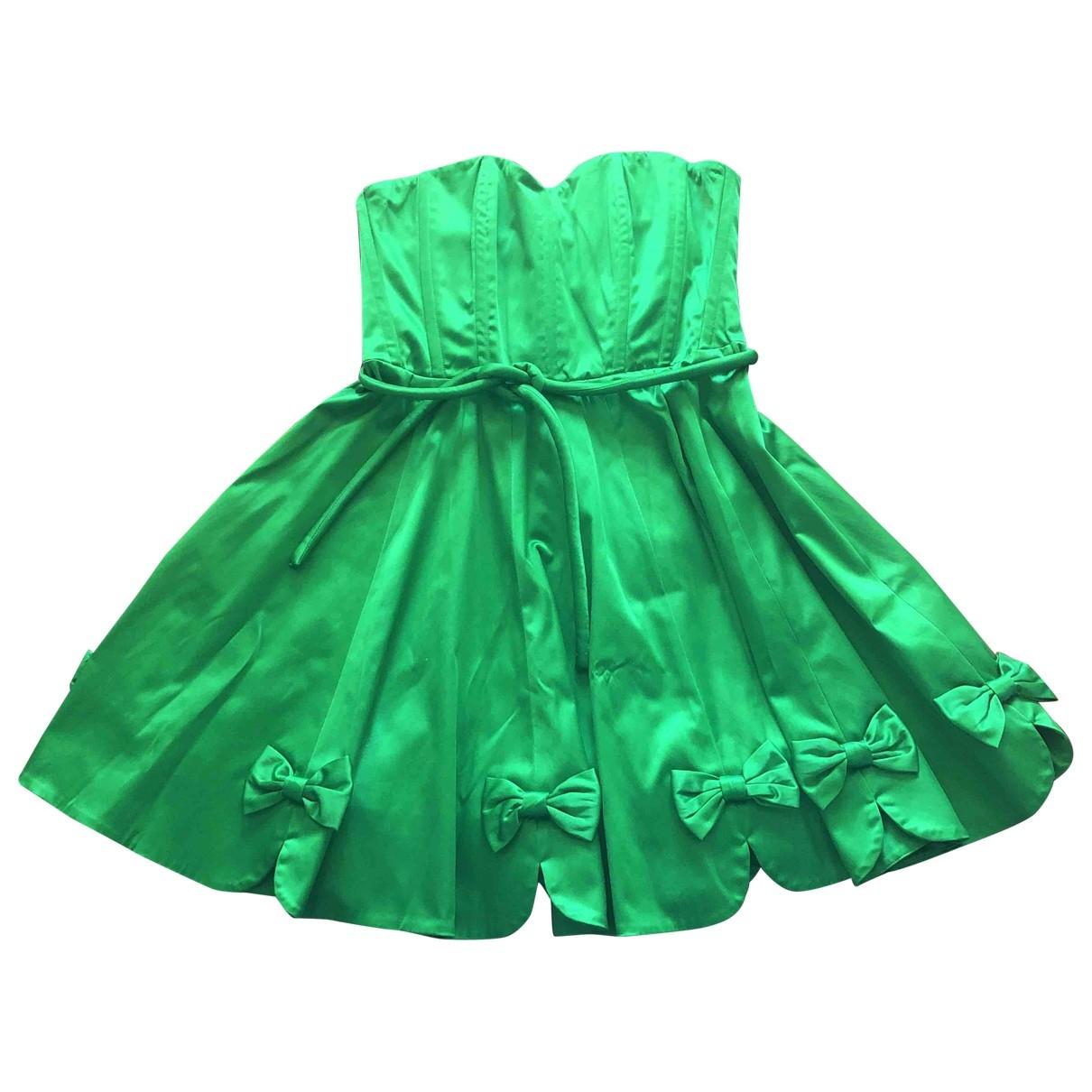 Manoush - Robe   pour femme en coton - elasthane - vert