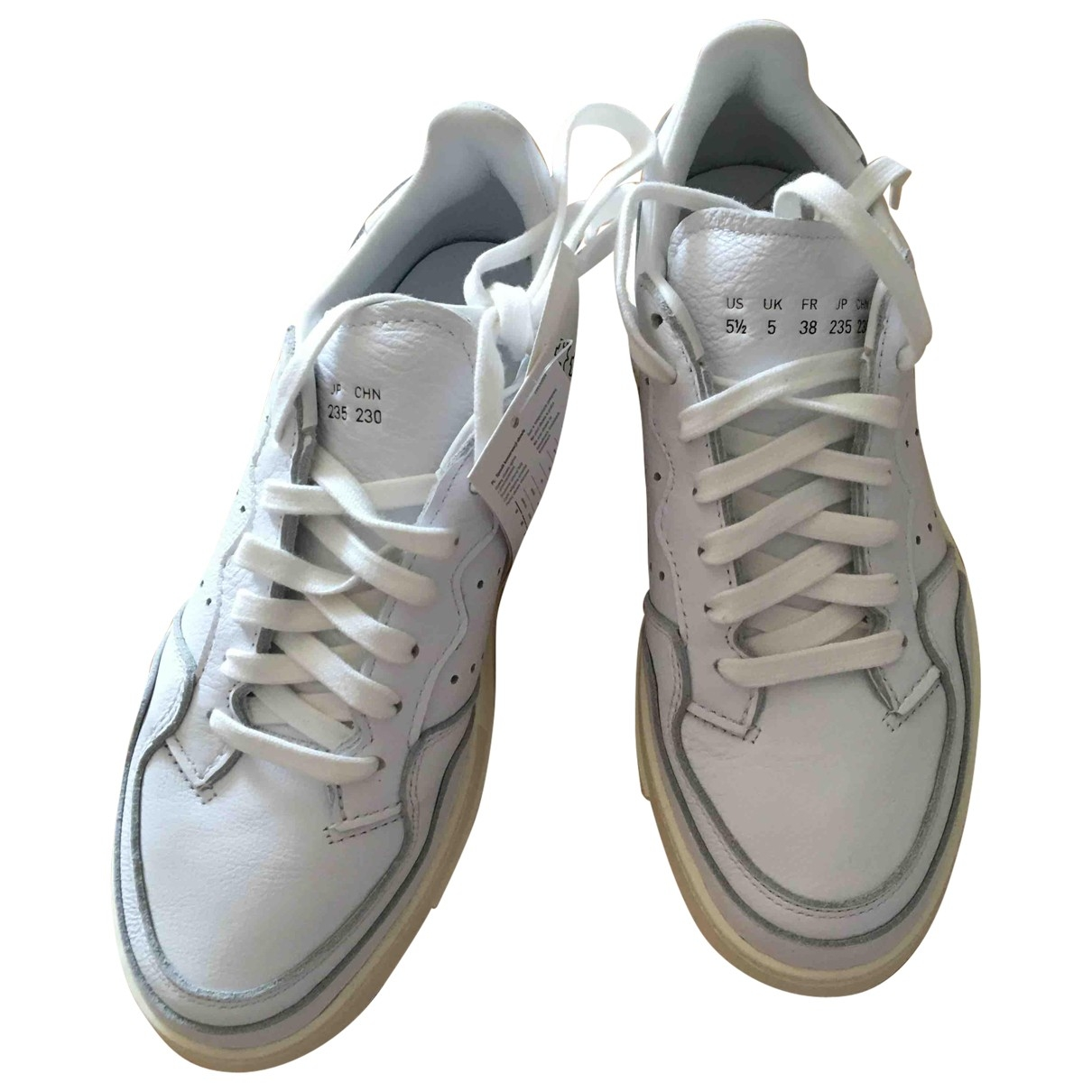 Adidas - Baskets   pour femme en cuir - blanc