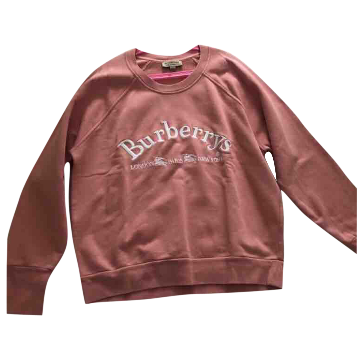 Burberry \N Pullover in  Rosa Baumwolle