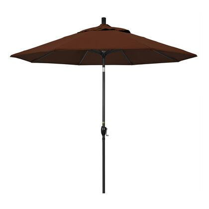 GSPT908302-5432 9' Pacific Trail Series Patio Umbrella With Stone Black Aluminum Pole Aluminum Ribs Push Button Tilt Crank Lift With Sunbrella 2A Bay
