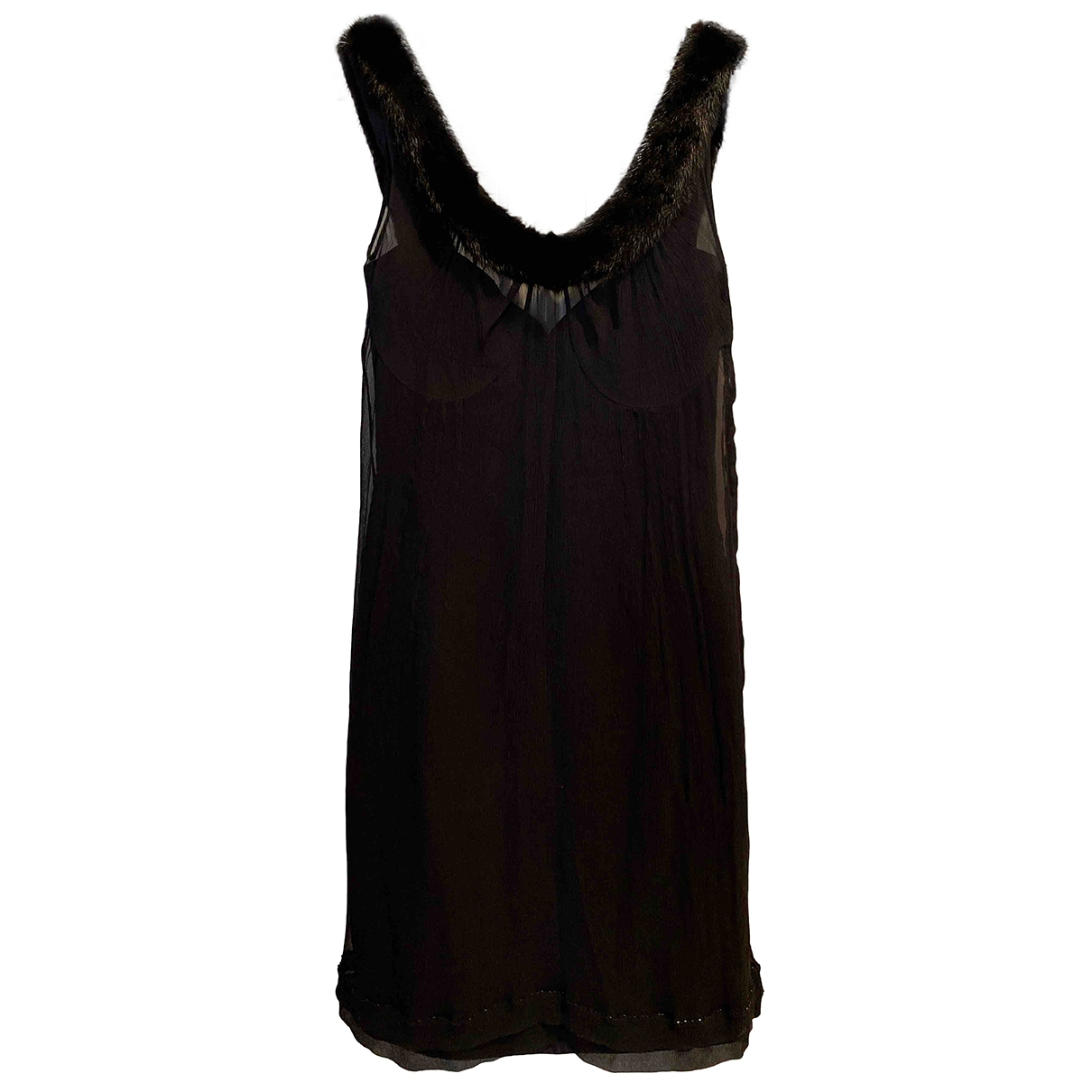 Louis Vuitton \N Black Silk dress for Women 36 FR