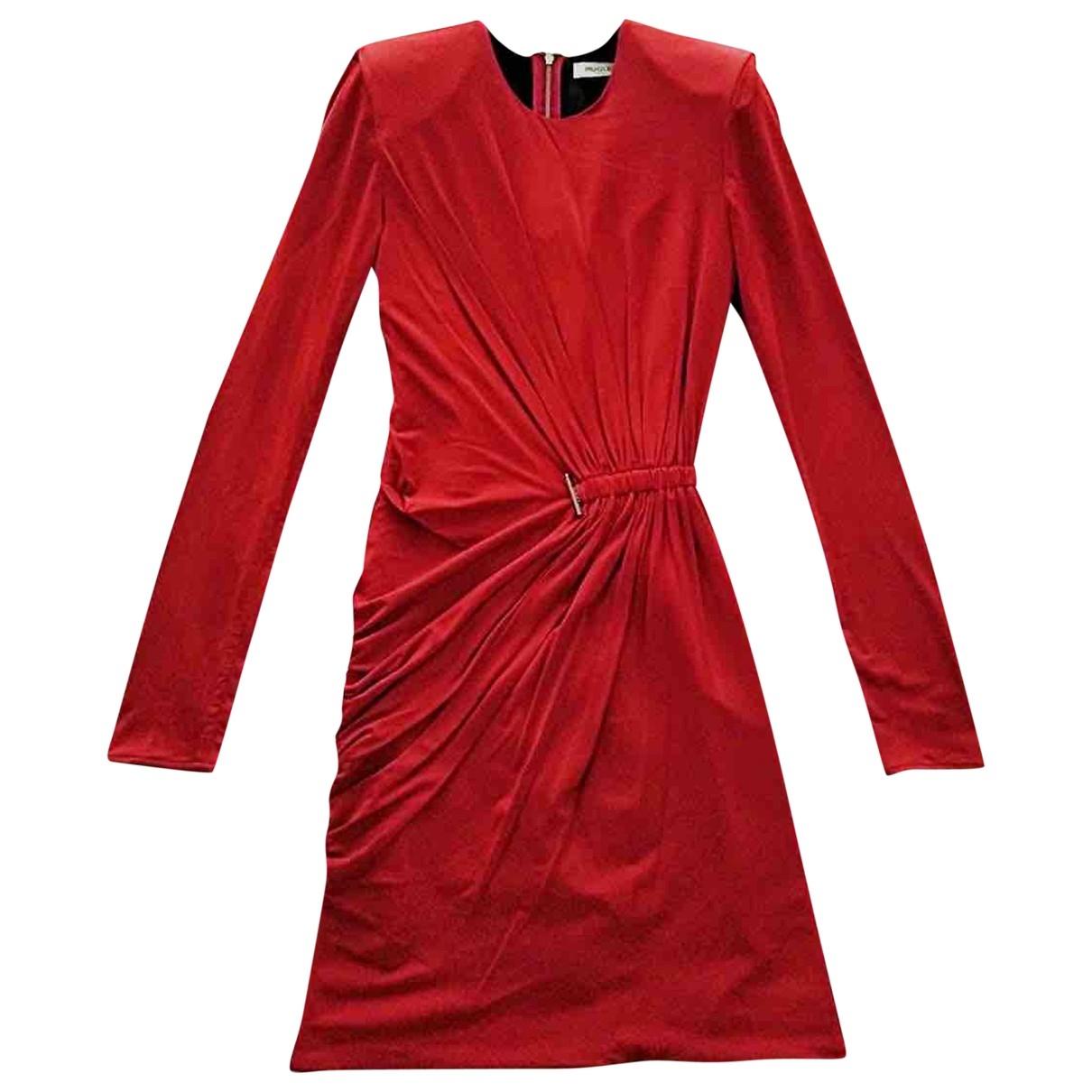 Mugler \N Kleid in  Rot Viskose