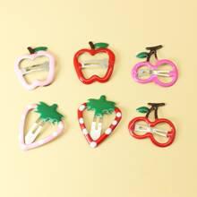 3 Paare Kinder Obst formiger Haarklammer