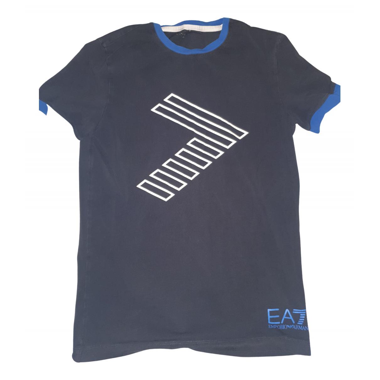 Emporio Armani N Blue Cotton T-shirts for Men XS International
