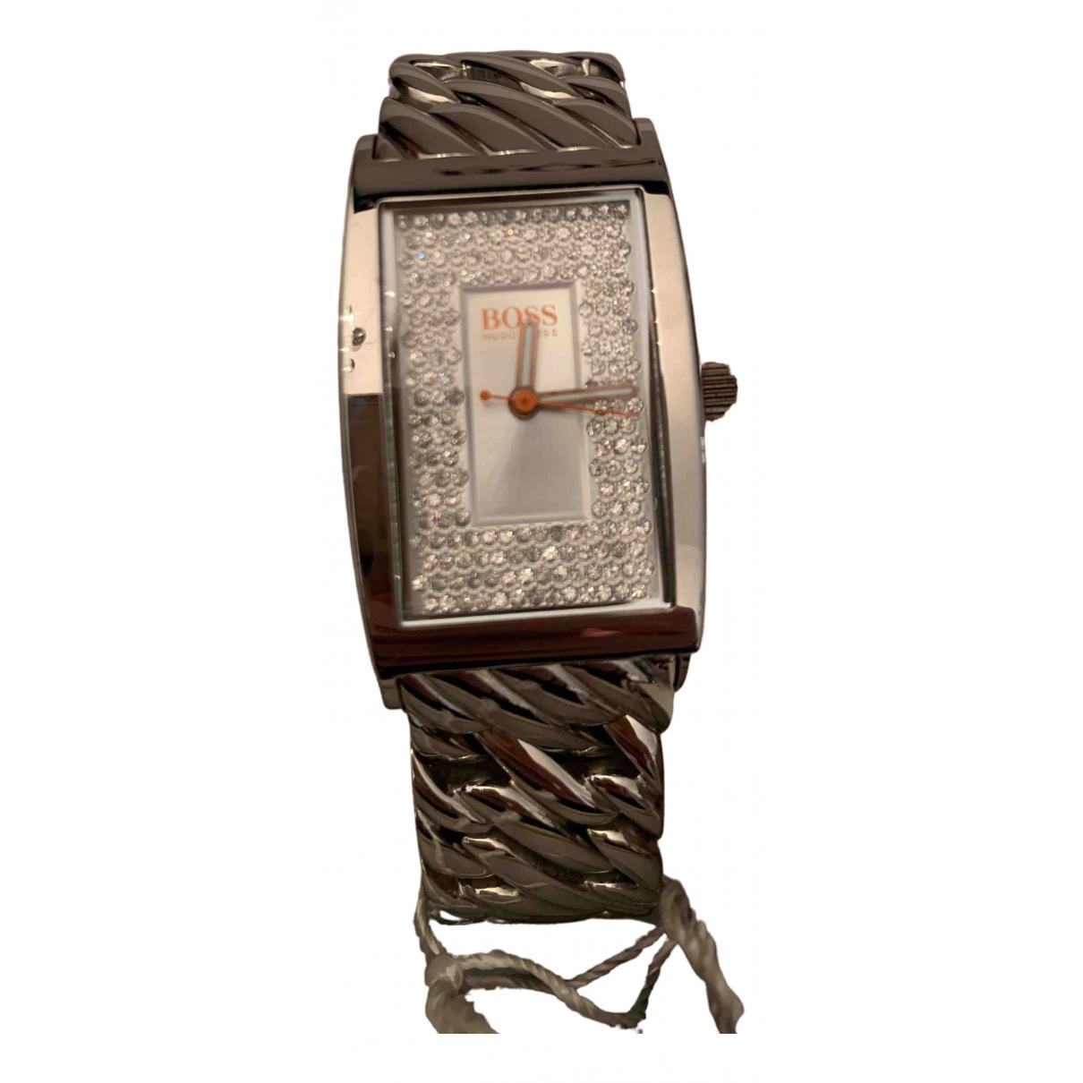 Hugo Boss \N Uhr in  Silber Stahl