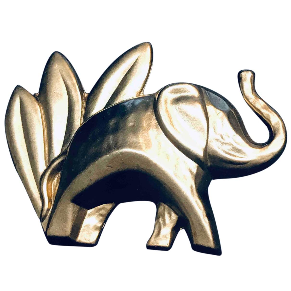 Kenzo - Broche   pour femme en metal - argente