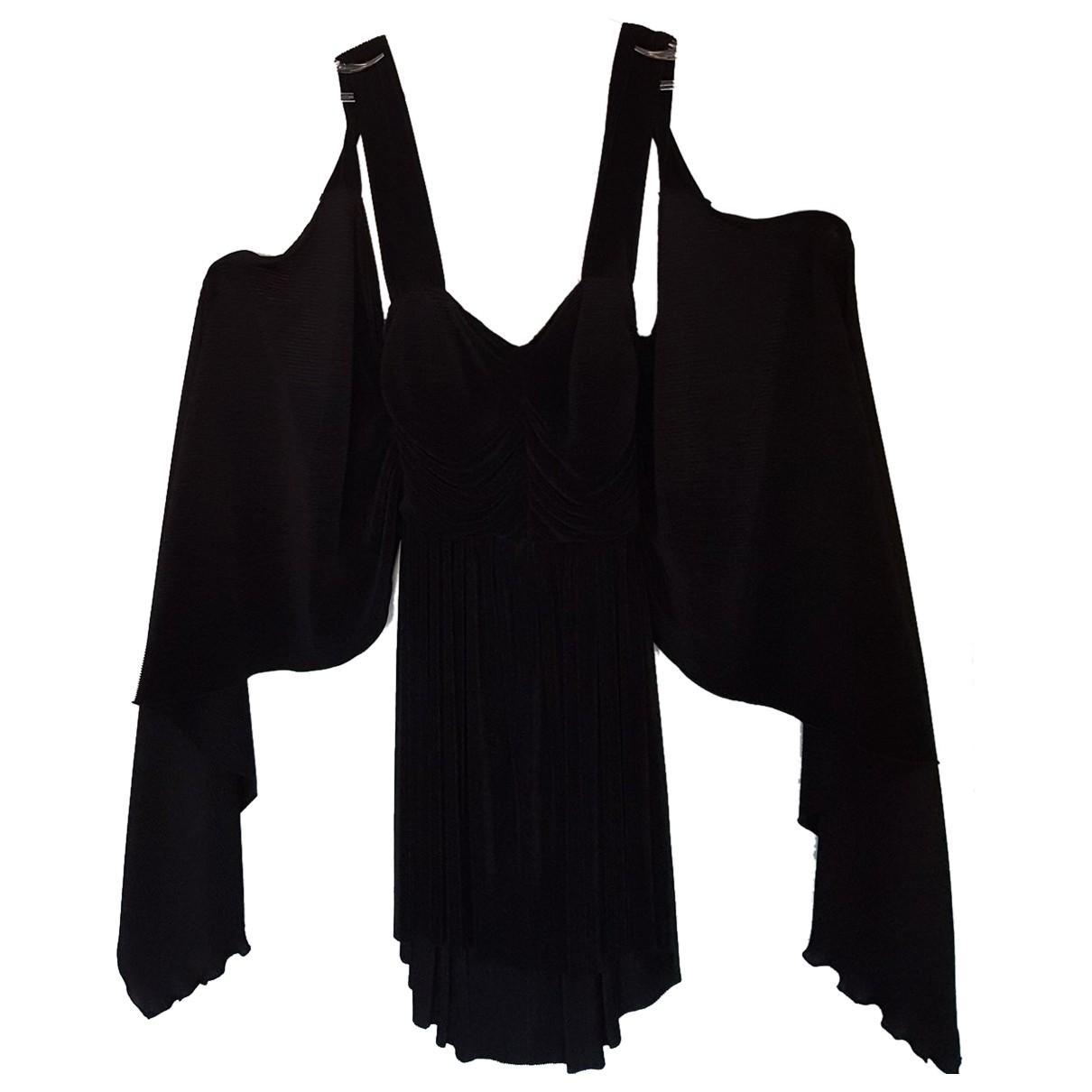 Krizia \N Kleid in  Schwarz Viskose