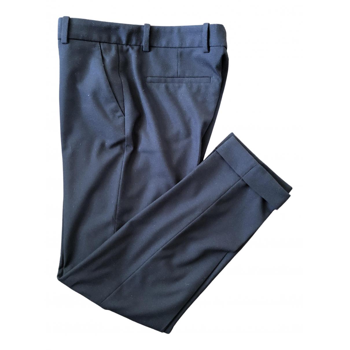 The Kooples - Pantalon   pour femme en laine - marine