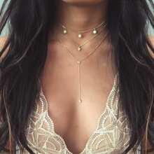 Stern Detail Lariats Layered Halskette