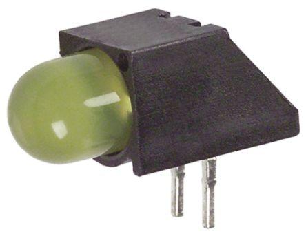 Dialight 550-2307F, Yellow Right Angle PCB LED Indicator, Through Hole 2.6 V