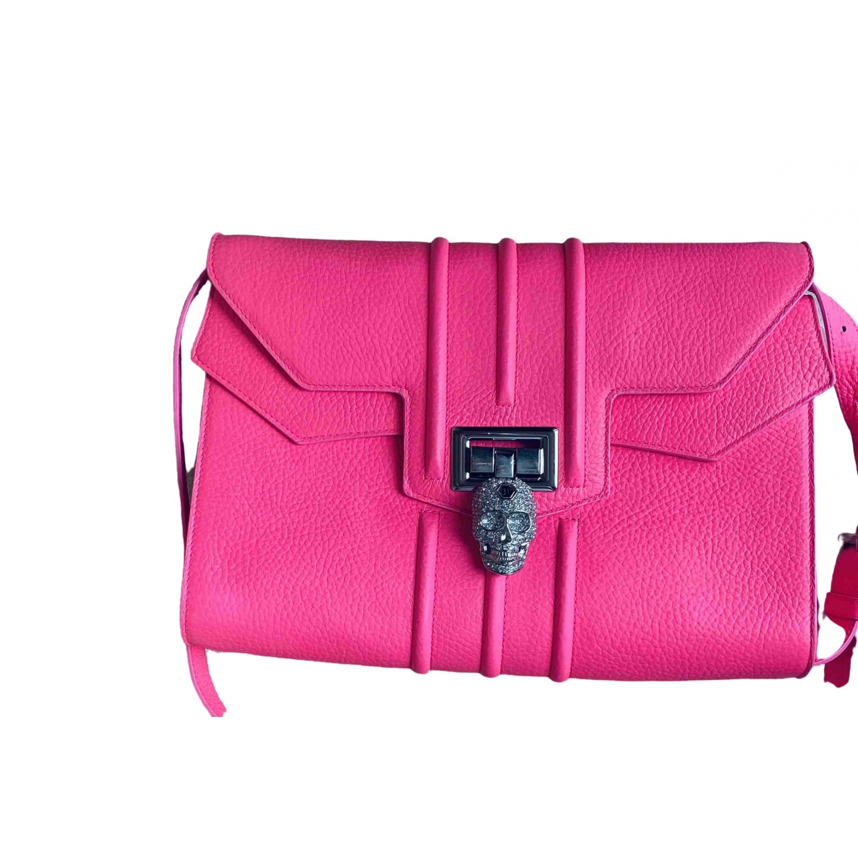 Philipp Plein \N Clutch in  Rosa Leder