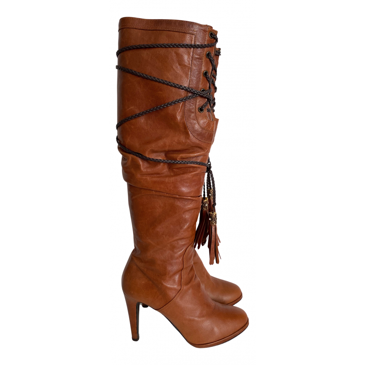 Le Silla N Brown Leather Boots for Women 38 EU
