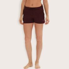 Einfarbige Sports Shorts mit Taillenband und Tasche
